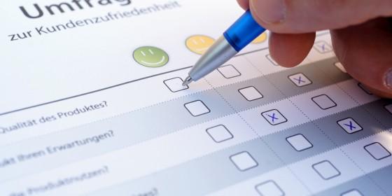 Umfrage zur Kundenzufriedenheit